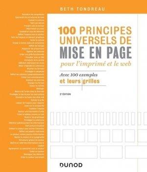 100 principes universels de mise en page pour l'imprimé et le Web - dunod - 9782100797424 -