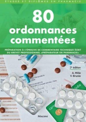 80 ordonnances commentées - maloine - 9782224034771 -