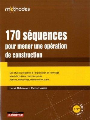 170 séquences pour mener une opération de construction - groupe moniteur - 9782281143737 -