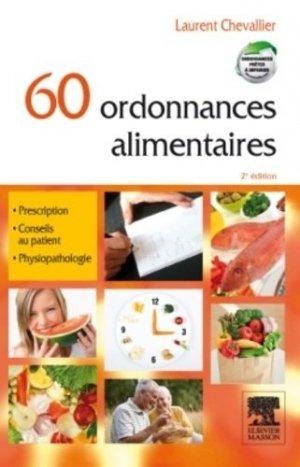60 ordonnances alimentaires - elsevier / masson - 9782294713958