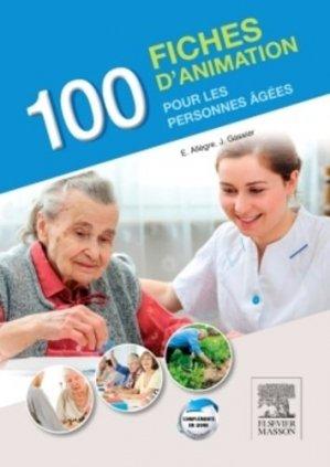 100 fiches d'animation pour les personnes âgées - elsevier / masson - 9782294743597