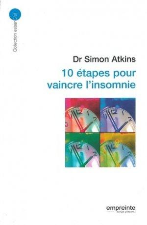 10 étapes pour vaincre l'insomnie - empreinte temps present - 9782356140708 -