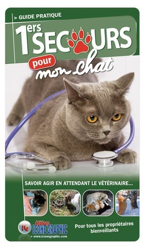 1ers secours pour mon chat - Icone graphic - 9782357385986 -