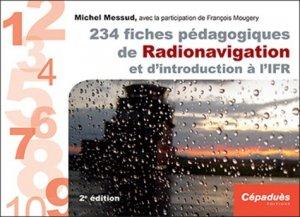 234 fiches pédagogiques de Radionavigation et d'introduction à l'IFR - cepadues - 9782364936713