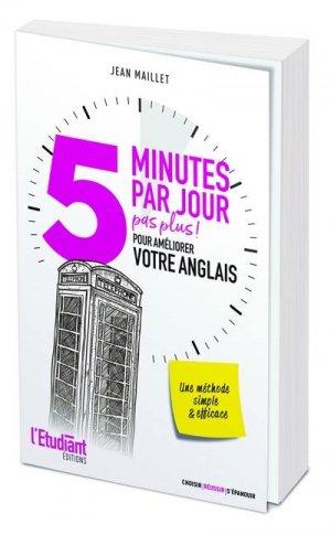 5 minutes par jour (pas plus) pour améliorer votre anglais - Editions de l'Opportun - 9782380150865 -