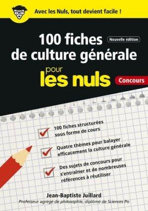 100 fiches de culture générale pour les nuls. 2e édition - First - 9782412042922 -