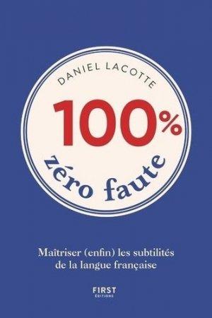 100% zéro faute - First - 9782412044681