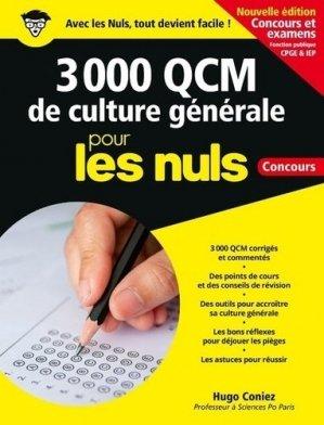 3 000 QCM de culture générale pour les nuls - First - 9782412051030 -