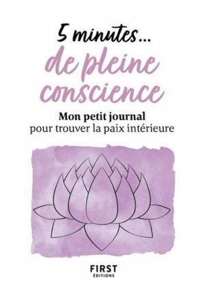 5 minutes# de pleine conscience - first editions - 9782412066843 -