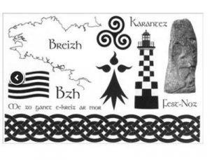 12 tatouages bretons et celtes vendus par boîte de 30 cartes - Ars in cute - 9782492031052 -
