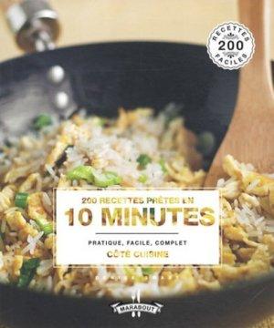 200 recettes prêtes en 10 minutes - Marabout - 9782501089081 -