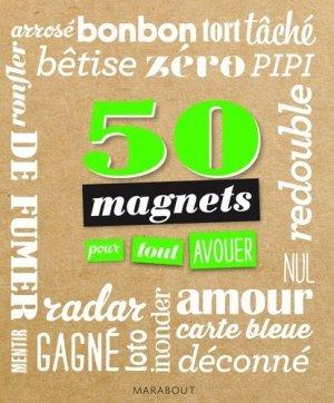 50 magnets pour tout avouer - Marabout - 9782501099660 -