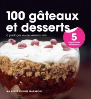 100 gâteaux et desserts en 5 ingrédients - Marabout - 9782501100441 -