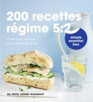 200 recettes régime 5:2 - Marabout - 9782501100458 -