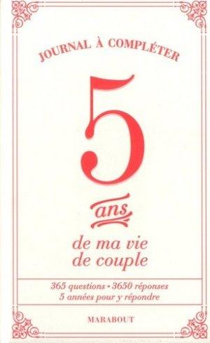 5 ans de ma vie de couple - marabout - 9782501125901 -