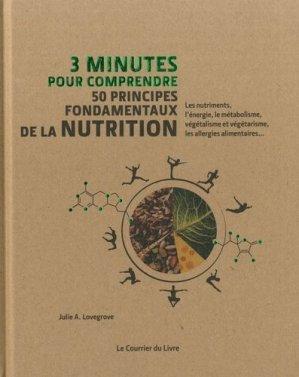 50 principes fondamentaux de la nutrition - le courrier du livre - 9782702915134 -