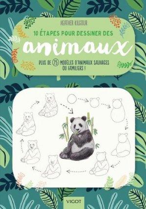10 étapes pour dessiner des animaux - Vigot - 9782711425457 -