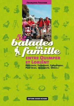 52 balades en famille entre Quimper et Lorient - glenat - 9782723457378 -