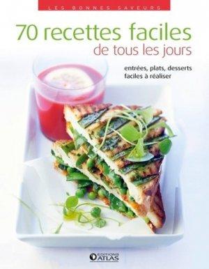 70 recettes faciles de tous les jours - Glénat - 9782723482790 -