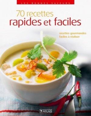 70 recettes rapides et faciles - Glénat - 9782723496087 -