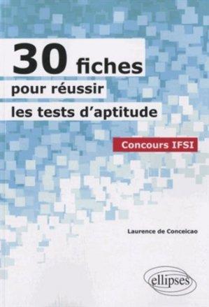 30 fiches pour réussir les tests d'aptitude - ellipses - 9782729875619 -