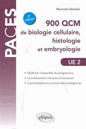 900 QCM de biologie cellulaire, histologie et embryologie UE2 - ellipses - 9782729881375 -