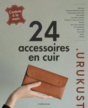24 accessoires en cuir - de saxe  - 9782756533179 -