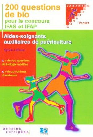 200 questions de bio pour le concours IFAS et IFAP - lamarre - 9782757301616 -