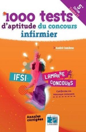 1000 tests d'aptitude du concours infirmier - Tome 2 - lamarre - 9782757307564 -