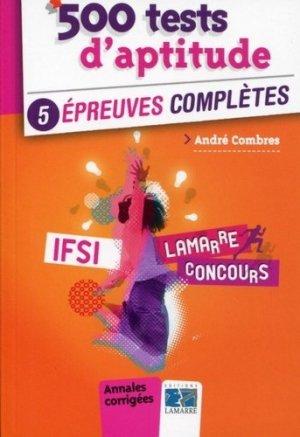 500 tests d'aptitude - lamarre - 9782757307670 -