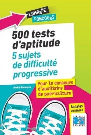 500 tests du concours d'AP - lamarre - 9782757308233 -