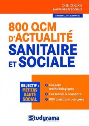 800 QCM d'actualité sanitaire et sociale - studyrama - 9782759013227 -