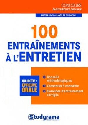 100 entrainements à l'entretien - studyrama - 9782759015603 -