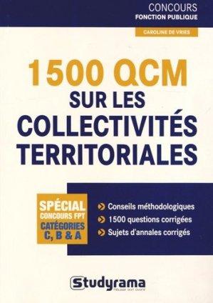 1 500 QCM sur les collectivités territoriales - Studyrama - 9782759024780 -