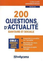 200 questions d'actualité sanitaire et sociale - studyrama - 9782759024872