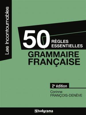 50 règles essentielles - studyrama - 9782759027996
