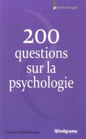 200 questions sur la psychologie - studyrama - 9782759028627 -
