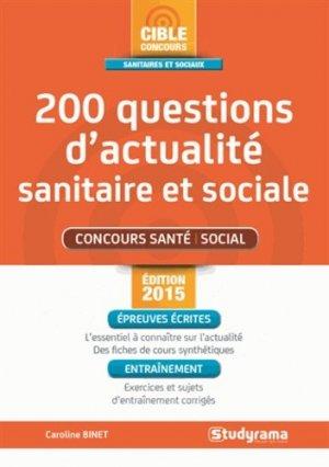 200 questions d'actualité sanitaire et sociale - studyrama - 9782759029280 -
