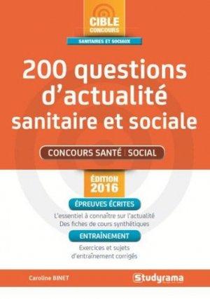 200 questions d'actualité sanitaire et sociale - studyrama - 9782759031542