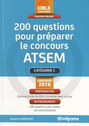 200 questions pour préparer le concours ATSEM - studyrama - 9782759032181