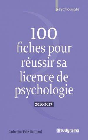 100 fiches pour réussir sa licence de psychologie - studyrama - 9782759032501 -