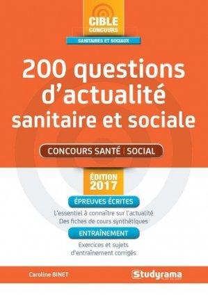 200 questions d'actualité sanitaire et sociale 2017 - studyrama - 9782759033577