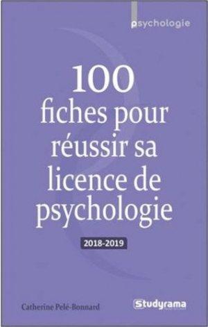 100 fiches pour réussir sa licence de psychologie 2018-2019 - studyrama - 9782759038596 -