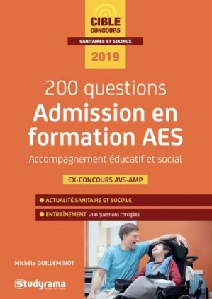200 questions - Admission en formation AES - studyrama - 9782759039081 -