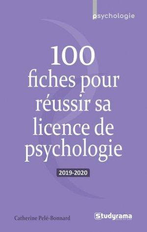 100 fiches pour réussir sa licence de psychologie 2019-2020 - studyrama - 9782759041312 -