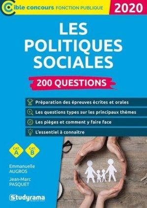 200 questions sur les politiques sociales - studyrama - 9782759041343 -