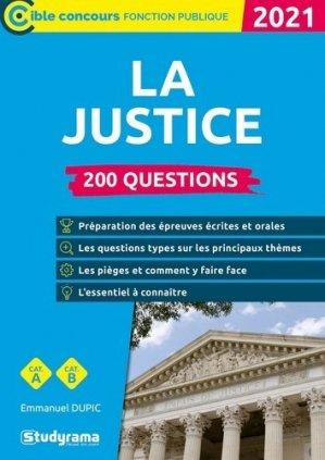 200 questions sur la justice - studyrama - 9782759044870 -