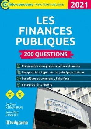 200 questions sur les finances publiques. Edition 2021 - studyrama - 9782759044894 -