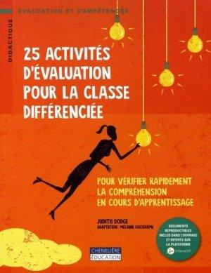25 activités d'évaluation pour la classe différenciée - cheneliere education (canada) - 9782765054658 -