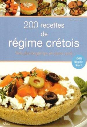 200 recettes du régime crétois - ideo - 9782824604565 -